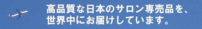 高品質な日本のサロン専売品を世界中にお届けしています
